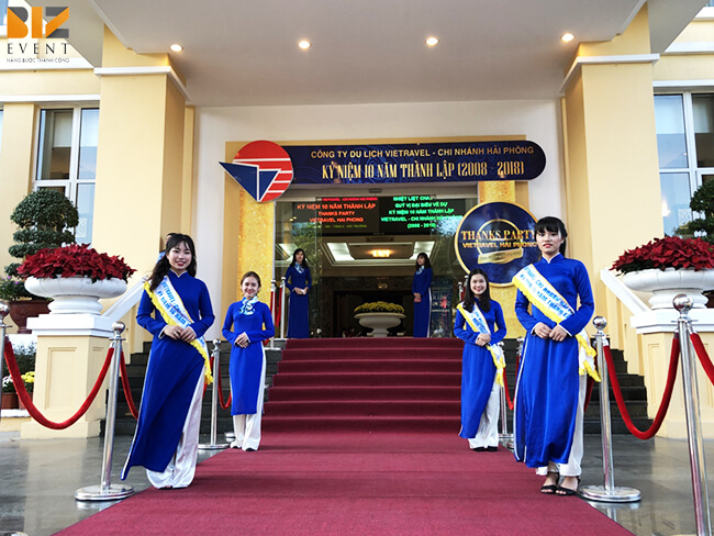 cho thue am thanh anh sang biz - BIZ EVENT set up Lễ Kỷ Niệm 10 Năm Thành Lập VietTravel