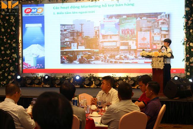 gioi thieu san pham moi - Biz Event set up âm thanh ánh sáng cho lễGiới thiệu máy lạnh General