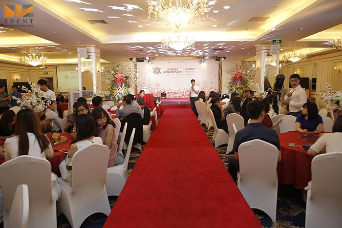 setup am thanh anh sang sinh nhat 3 tuoi xhome2 1 - Biz Event tổ chức lễ kỷ niệm thành lập công ty