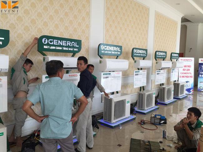 to chuc le khai truong khanh thanh - Biz Event set up âm thanh ánh sáng cho lễGiới thiệu máy lạnh General