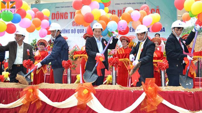 to chuc le khoi cong dong tho 1 1 - Lễ khởi công gói 10 triệu vnd, Kịch bản độc đáo chuyên nghiệp hấp dẫn