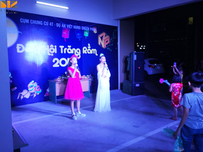 to chuc trung thu - Biz Event tổ chức đêm hội trăng rằm tại cụm Chung Cư 4T Việt Hưng