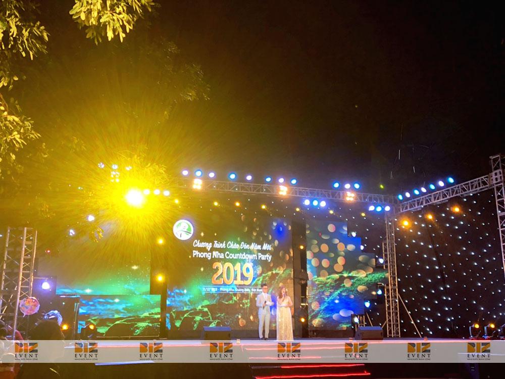 Không khí đón mừng năm mới đang tràn ngập trên khắp cả nước. Để hưởng ứng phong trào đó, ngày 31/12/2018, Biz Event đã vinh dự set up toàn bộ thiết bị sự kiện tổ chức chương trình đếm ngược tại Vườn quốc gia Phong Nha-Kẻ Bàng.4