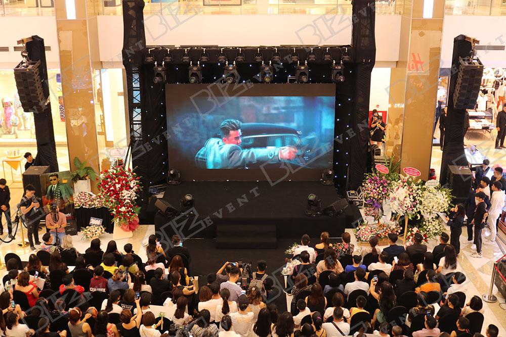 set up thiết bị sự kiện tổ chức buổi ra mắt mv mới của ĐVH7