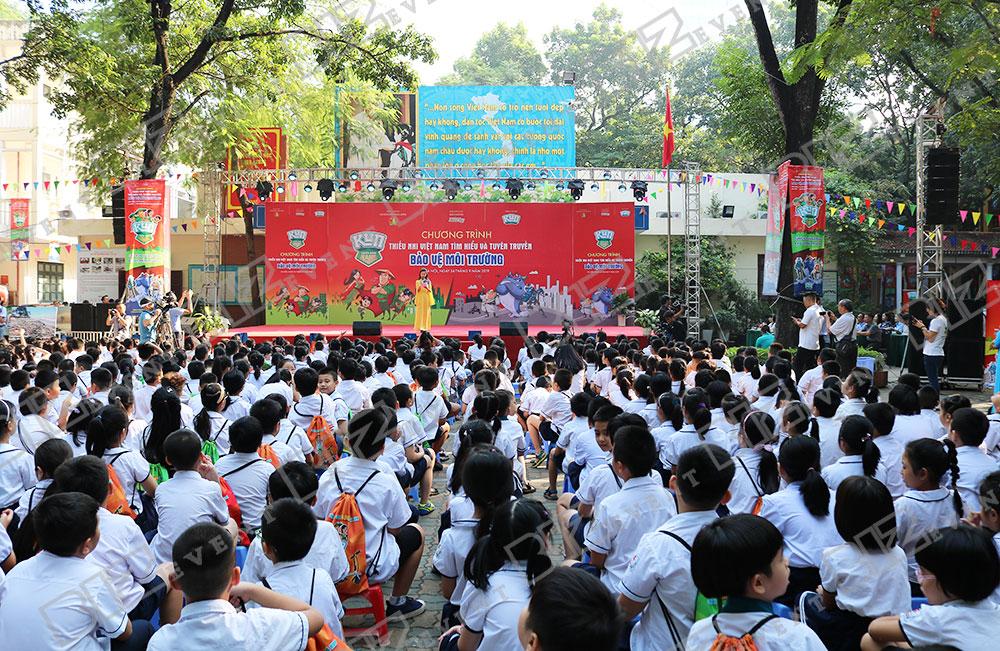 IMG 8446 - Set up Thiết bị sự kiện Tổ chức chương trình Thiếu nhi Việt Nam tìm hiểu và tuyên truyền bảo vệ môi trường 2019