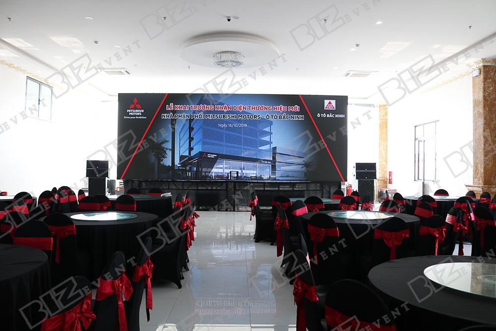 IMG 8608 - Set up âm thanh, ánh sáng tổ chức Lễ khai trương Mitsubishi Motors Ô Tô Bắc Ninh