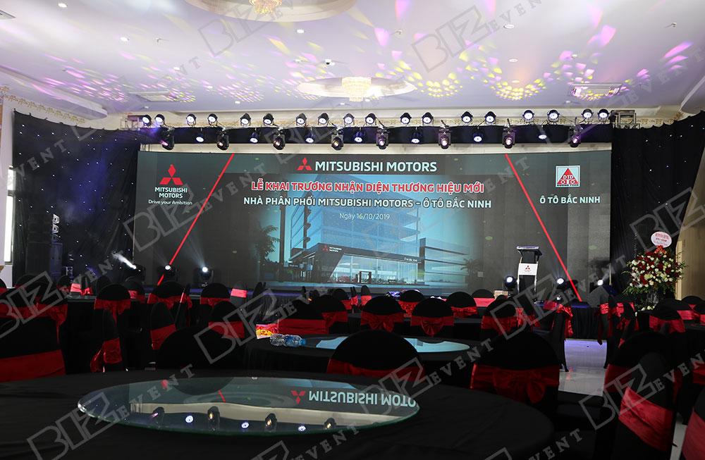 IMG 8616 - Set up âm thanh, ánh sáng tổ chức Lễ khai trương Mitsubishi Motors Ô Tô Bắc Ninh