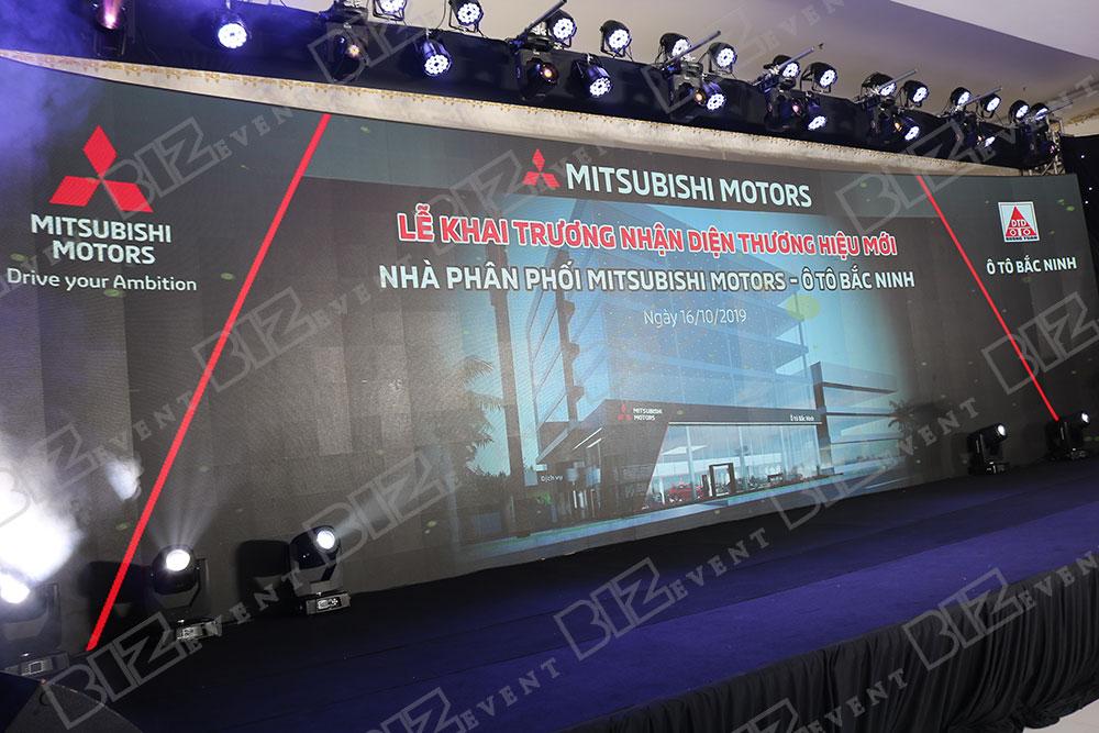 IMG 8627 - Set up âm thanh, ánh sáng tổ chức Lễ khai trương Mitsubishi Motors Ô Tô Bắc Ninh