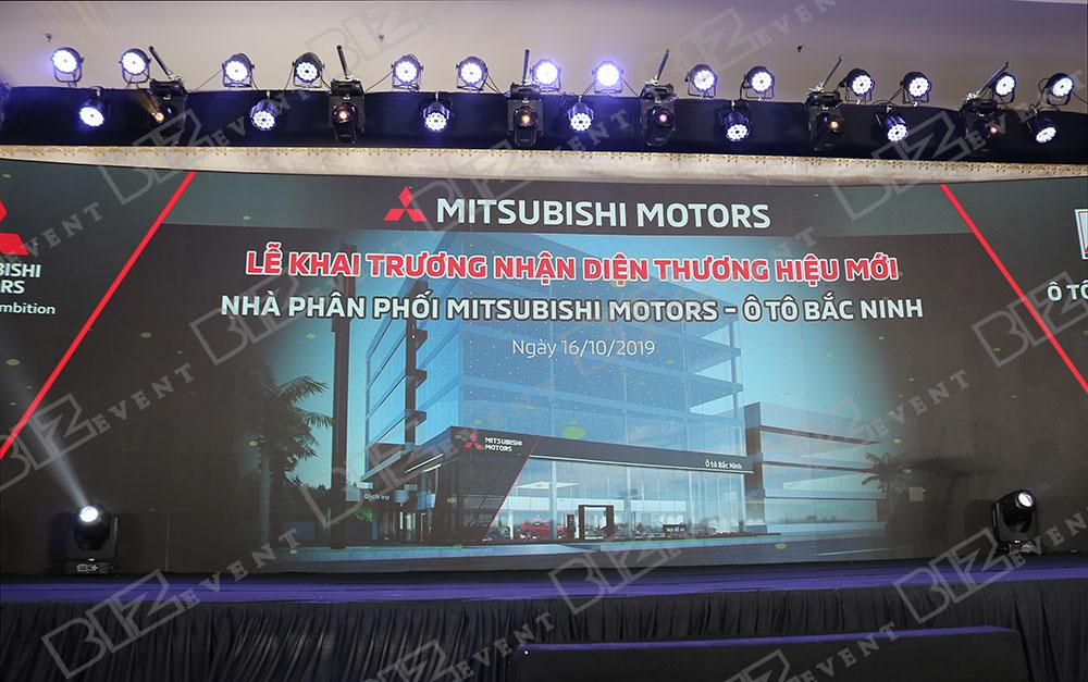 IMG 8631 - Set up âm thanh, ánh sáng tổ chức Lễ khai trương Mitsubishi Motors Ô Tô Bắc Ninh
