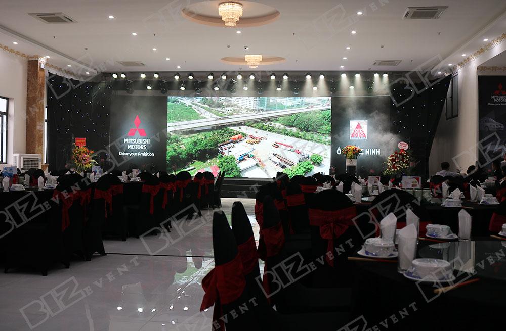 IMG 8633 - Set up âm thanh, ánh sáng tổ chức Lễ khai trương Mitsubishi Motors Ô Tô Bắc Ninh