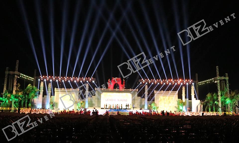 cho thuê ánh sáng tổ chức lễ hội đền hùng 7