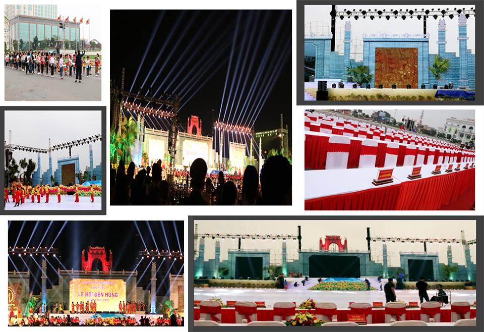 cho thuê ánh sáng tổ chức lễ hội đền hùng 2