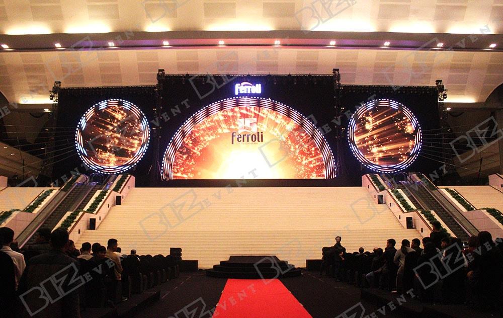 Biz Event cung cấp âm thanh, ánh sáng tổ chức Lễ kỷ niệm 15 năm thành lập Ferroli